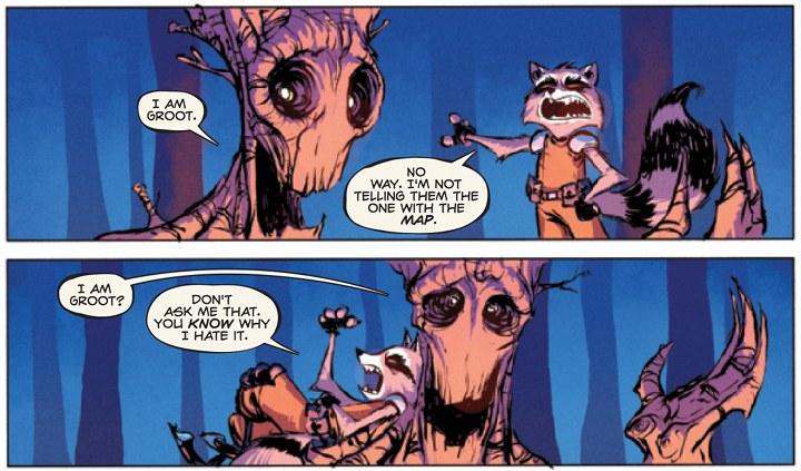 Rockey y Groot