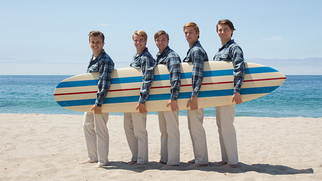 Kenny Wormald, Graham Rogers, Brett Davern, Jake Abel y Paul Dano en Love and Mercy