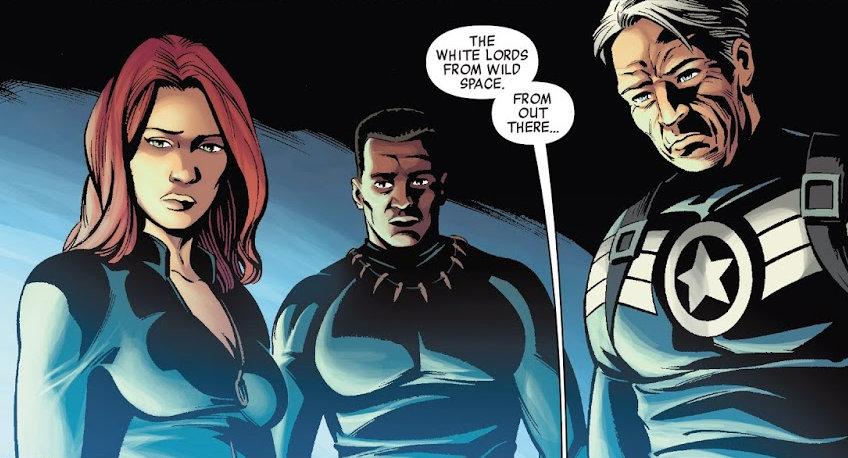 Viuda Negra, Pantera Negra y Capitán América