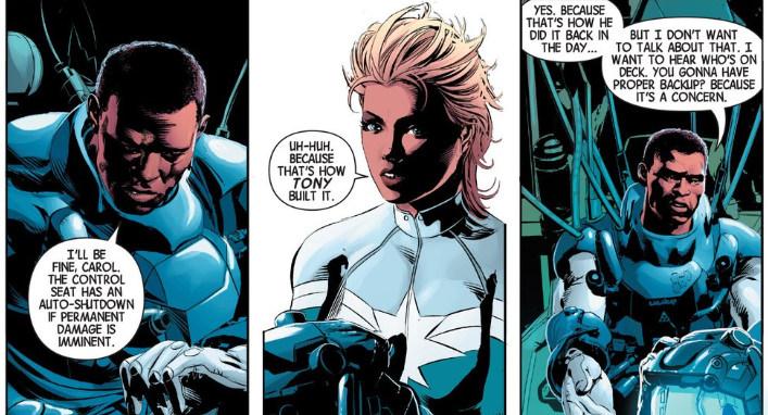 Carol Danvers y James Rhodes