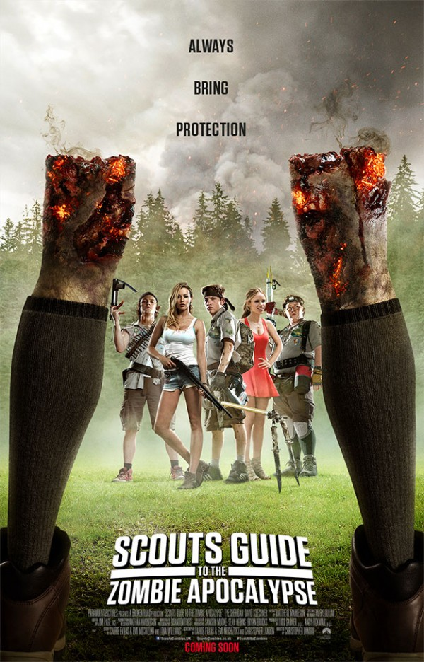 Cartel de Scouts Guide To The Zombie Apocalypse