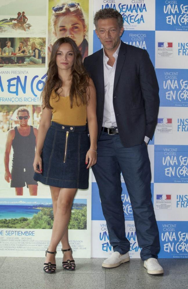 Lola Le Lann y Vincent Cassel