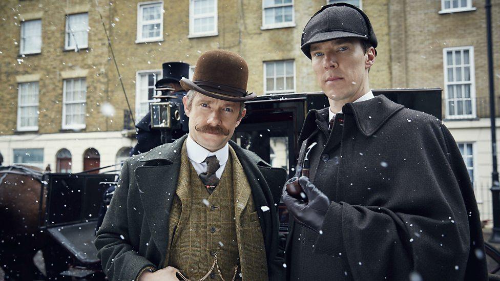 Martin Freeman y Benedict Cumberbatch en Sherlock: La novia abominable