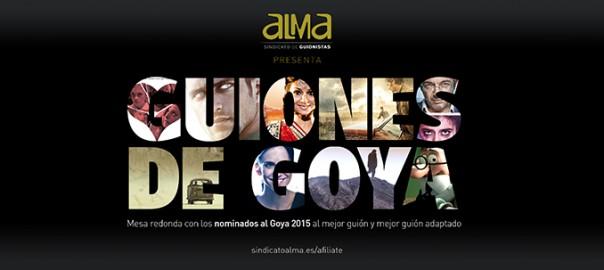 Cartel guiones de Goya