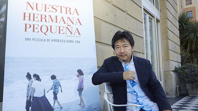 Kore Eda en su visita por San Sebastián el pasado septiembre