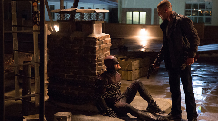 Daredevil y The Punisher en la segunda temporada de Daredevil en Netflix