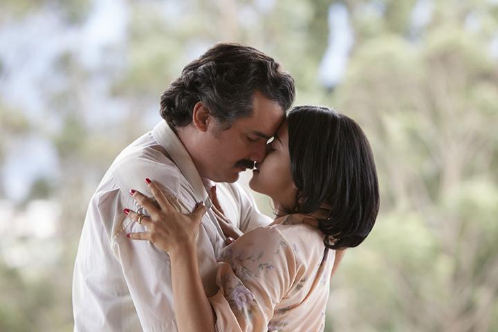 Wagner Moura y Paulina Gaitán en la segunda temporada de Narcos