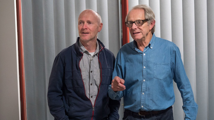 Laverty (izda) y Ken Loach (dcha)