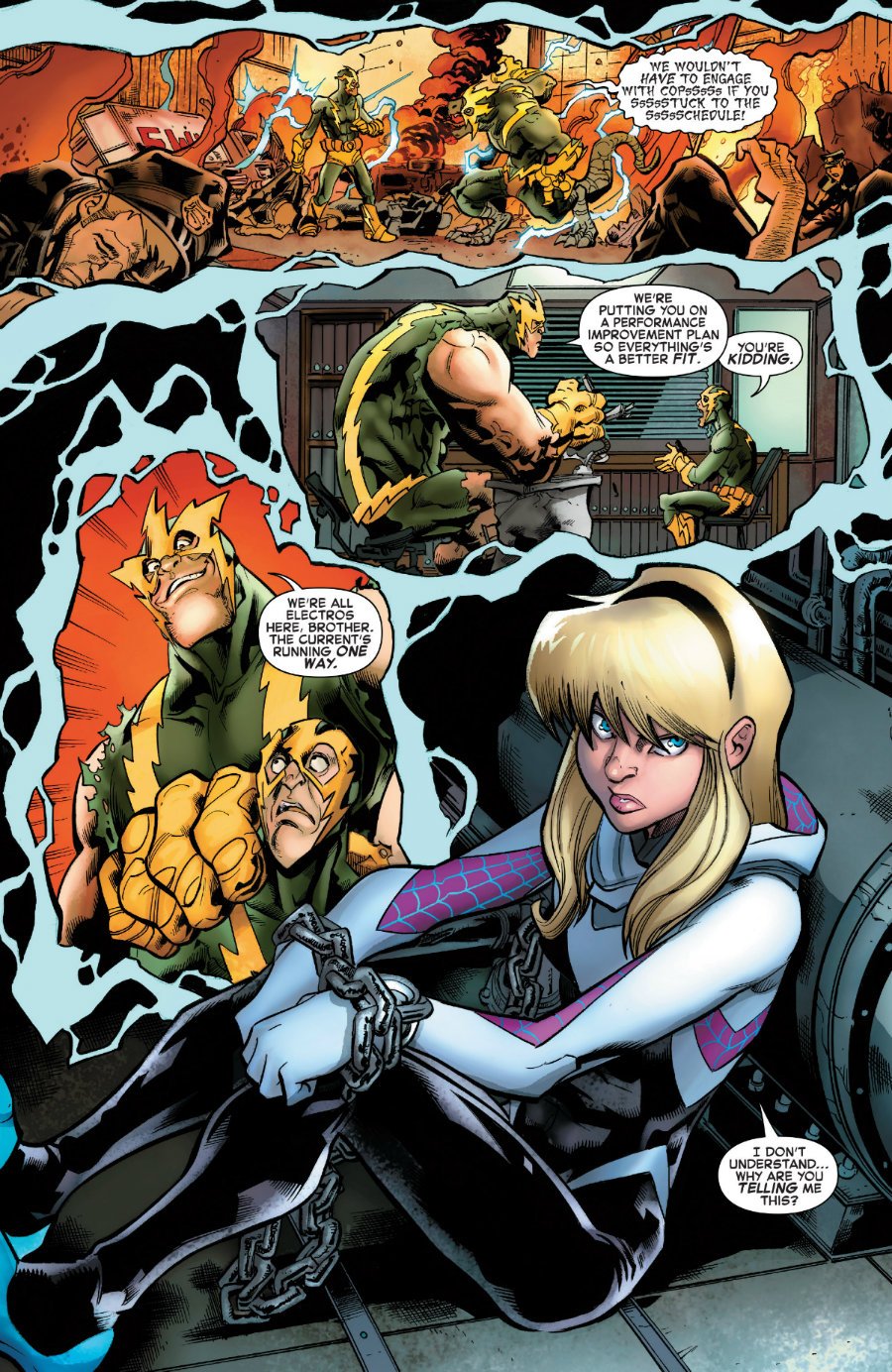 Gwen Stacy y Electro