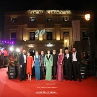 El equipo en la alfombra rojda del Festival de Málaga