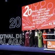 El equipo en la gala de inauguración del Festival de Málaga