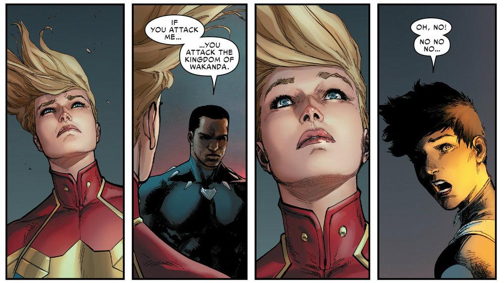 Black Panther y Carol Danvers