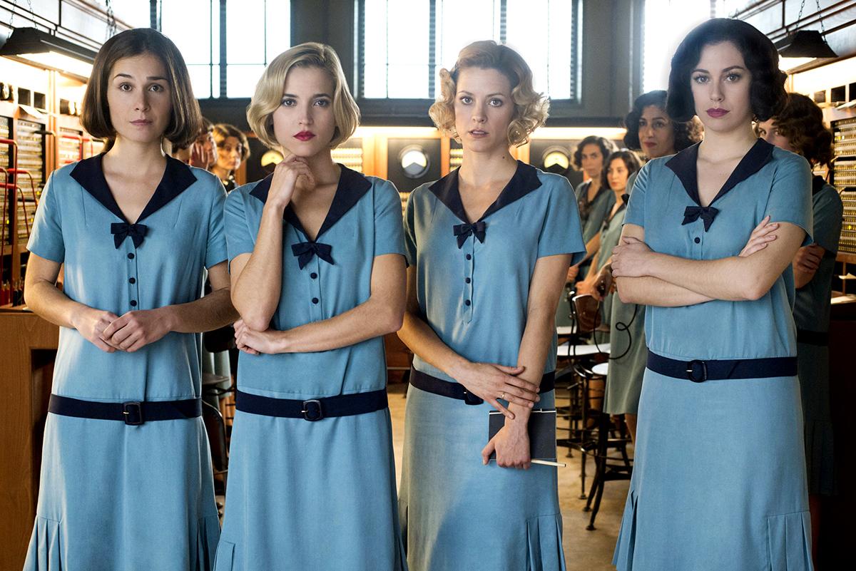 Nadia de Santiago, Ana Fernández, Maggie Civantos y Blanca Suárez en Las chicas del cable