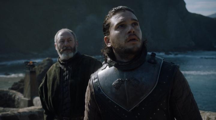 Ser Davos y Jon Snow en La justicia de la Reina, tercer episodio de la séptima temporada de Juego de Tronos