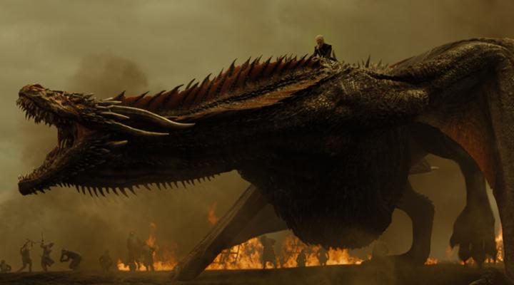 Daenerys a lomos de Drogón en el cuarto capítulo de la séptima temporada de Juego de Tronos