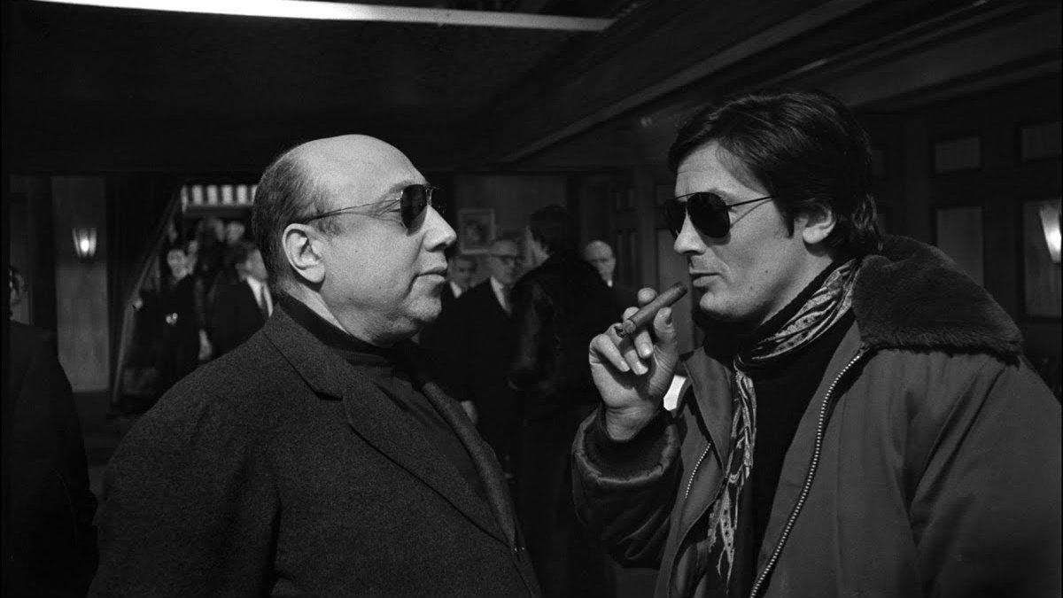 Jean-Pierre Melville y Alain Delon