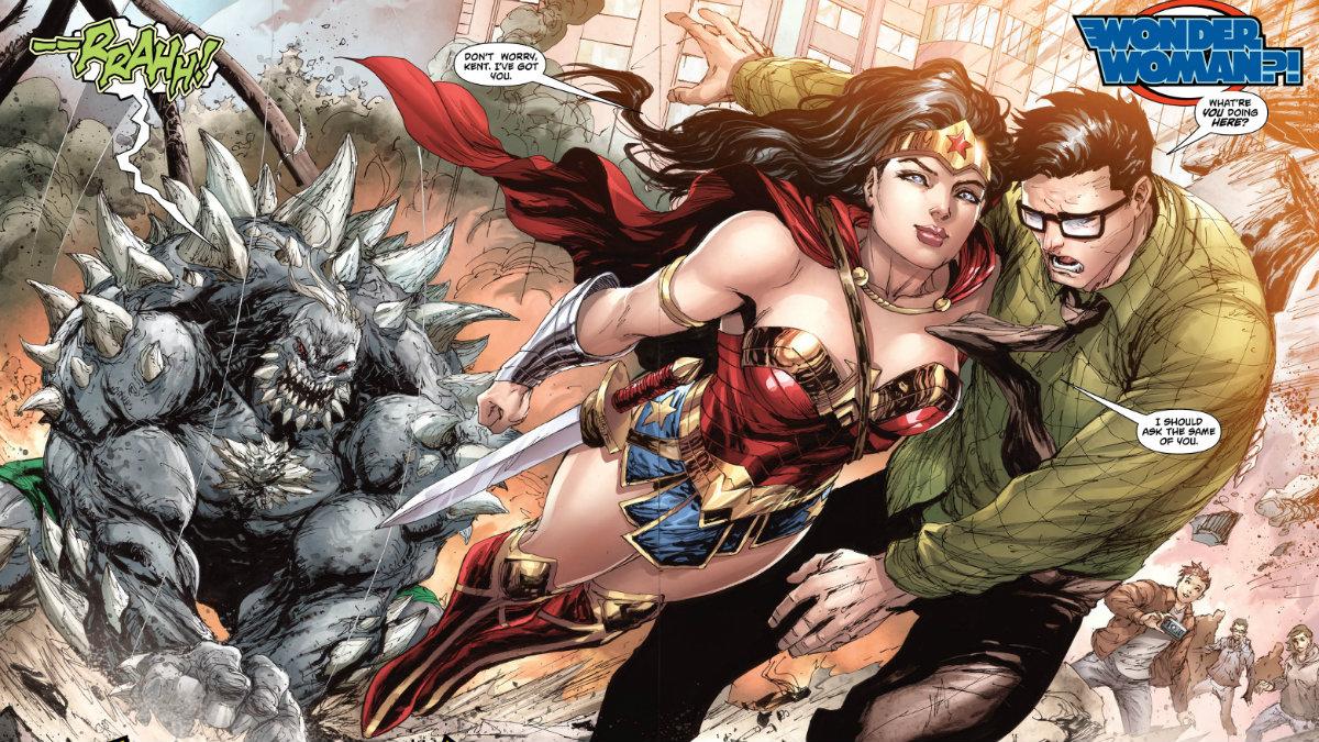 Wonder Woman y Clark Kent