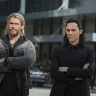 Chris Hemsworth y Tom Hiddleston