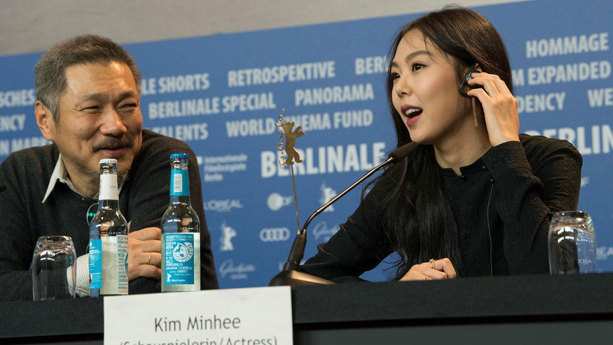 Hong Sangsoo y Kim Min Hee en la pasada Berlinale.