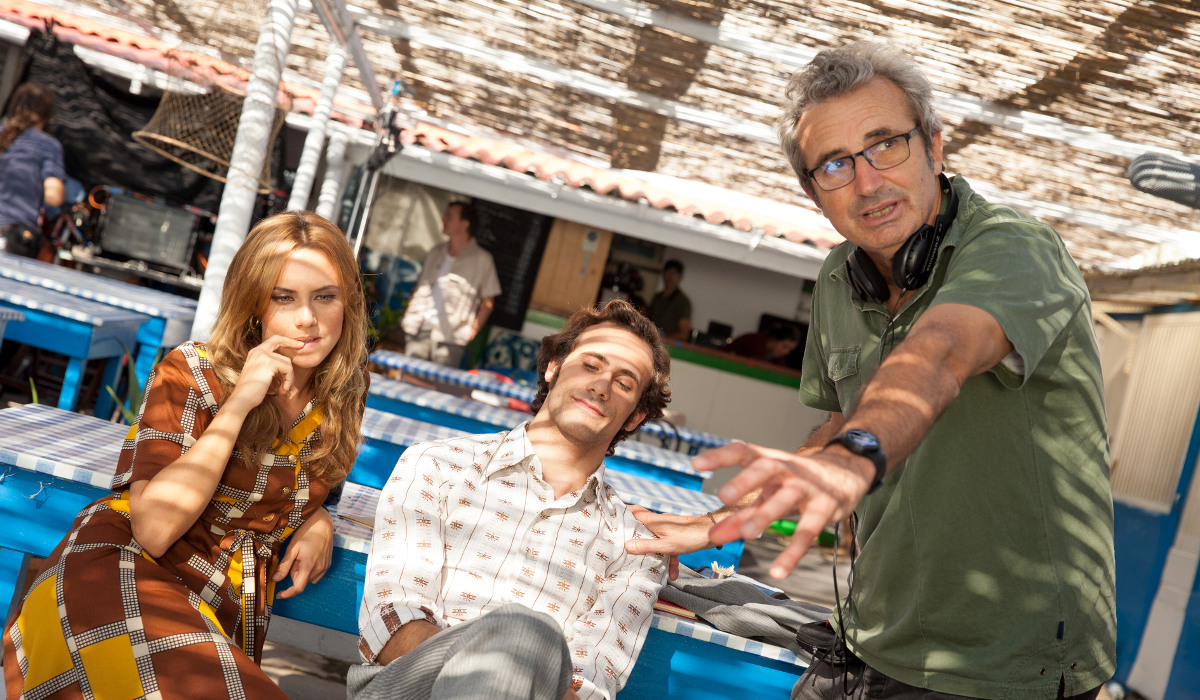 Aura Garrido, Oriol Pla y Mariano Barroso