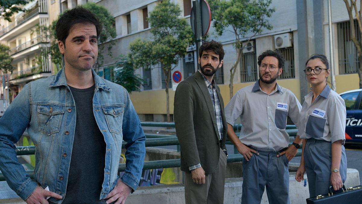 Ernesto Sevilla, David Verdaguer, Carlos Santos y Miren Ibarguren