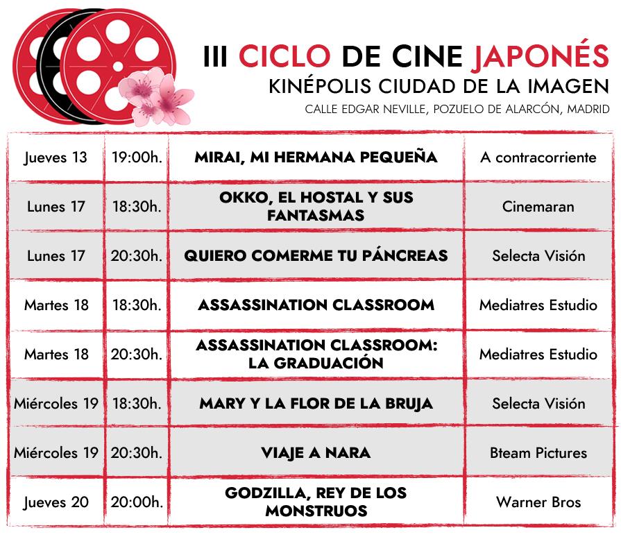 iii ciclo cine japones la noche americana