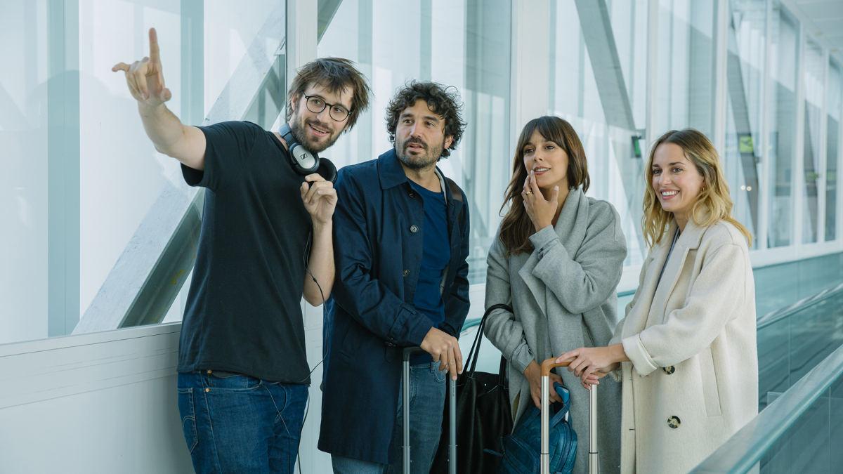 Dani de la Orden, Álex García, Belén Cuesta y Silvia Alonso