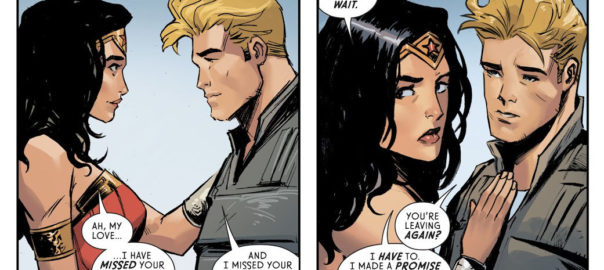 Wonder Woman y Steve Trevor