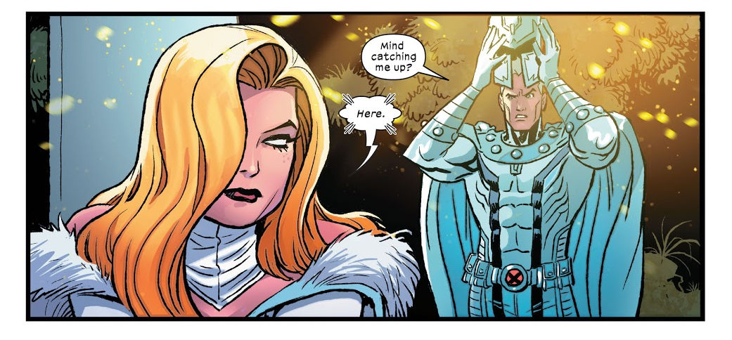 Emma Frost y Magneto